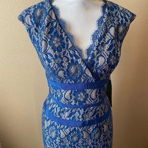 💖NWT Blue Lace Dress Size 10 Simply Liliana